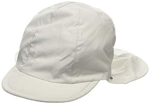 Sterntaler Unisex Schirmmütze mit Nackenschutz und Bindebändern, Alter: 5-6 Monate, Größe: 43, Lichtgrau