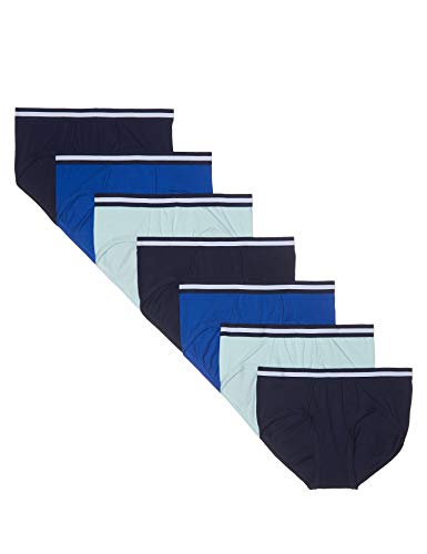 Marque Amazon - find. BELK071 Slips, Paquet de 5 - Homme, Multicolore (Navy/Wash Blue/Royal), XL, Label: XL