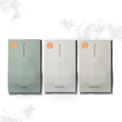 LEVY & FREY® Shower Refillset (Mixed) | Duschgel, Shampoo & Conditioner | Nachhaltige Körperpflege aus Pulver