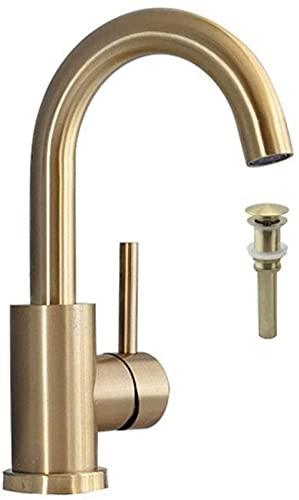 Grifo de baño grifo de baño cepillado oro grifo del fregadero del fregadero frío y caliente grifo del fregadero sola manija montado cubierta estilo 1-Faucet_con_pop-up_4