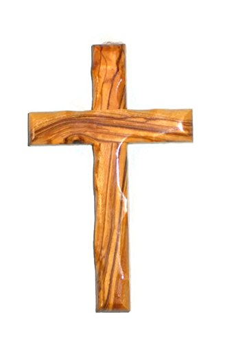 HolyRoses Olive Wood Christian Wall Cross Handcrafted in Bethlehem (6')