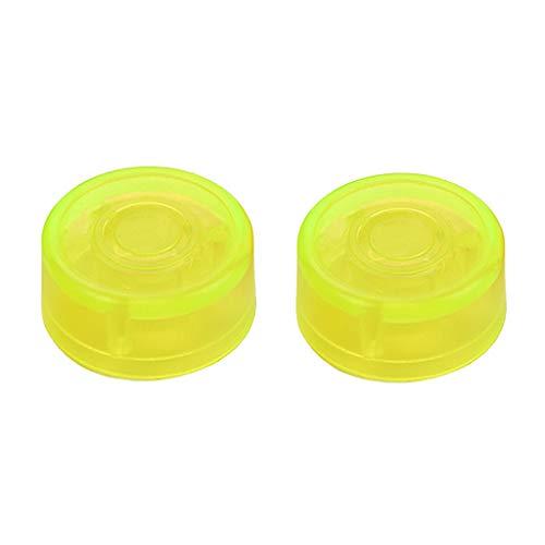 B Baosity Packung Mit 2 Kunststoff E Gitarren Effektpedal Fußnagelkappen Verstärker Fußschalter Topper Gelb Musikinstrumententeile