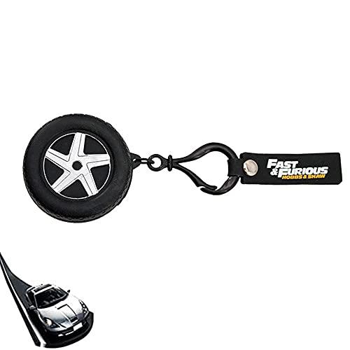 Llavero rápido y furioso para neumáticos,Fast & Furious llavero creativo de rueda para coche,el llavero también es una pequeña bolsa de almacenamiento,llavero multifunción para accesorios de coche