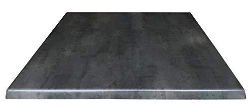 Holland Bar Stool Co. OD36SBlkStl 36' x 36' Black Steel, Season EnduroTop Indoor/Outdoor Table Top, 36' Square