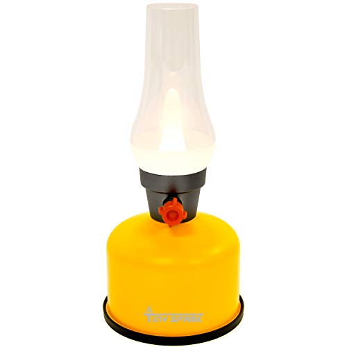 充電式LEDレトロランプ 模造灯油 USB充電 無段階調光 小型 個性的 シンプル 充電式モバイル照明雰囲気ライト キャンプランタン アウトドア 光強度調整付き