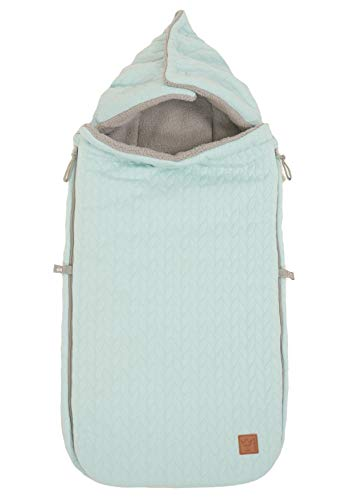 Kaiser 65670550 Kinderwagen Fußsack Knitty - Knit Design super soft, mint, grün