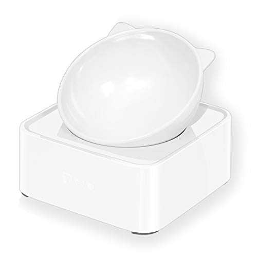 UPSKY Cat Dog Bowl Raised Cat Food Water Bowl with Detachable...