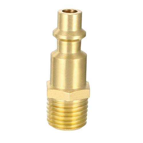 High Flow Plug, Brass Quick Coupler, Milton Type Fitting, air Hose Fitting, Quick Connect Fitting, 1/4 inch NPT Male Plug