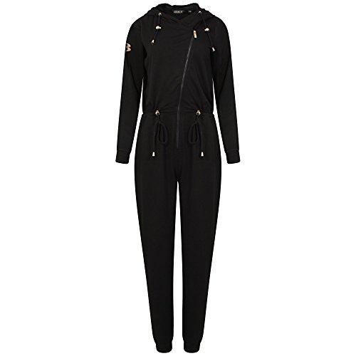 Fake tan Onesie, tan bescherming jumpsuit in zwart, van Bronzie. Medium/groot.