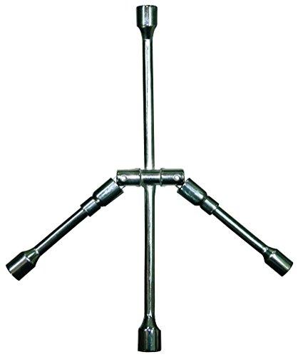 VIP - Llave de rueda cruz plegable 17/19/21/23 mm. Fabricada en metal., gris