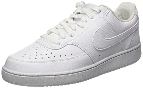 Nike Court Vision Lo Be, Zapatillas para Caminar Hombre, White/White-White, 42 EU
