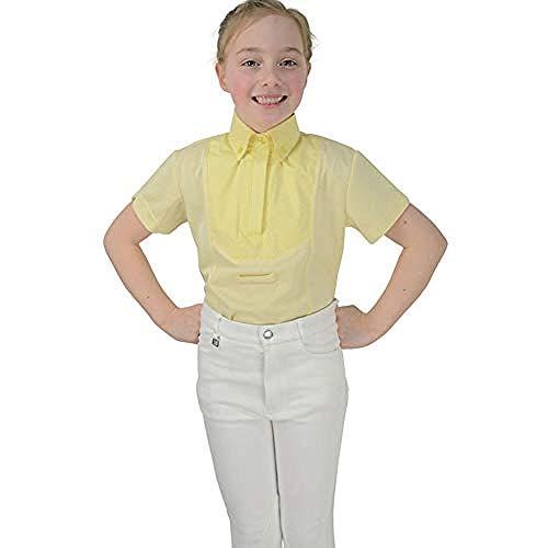 HyFASHION - Reitsport-Turnierblusen für Mädchen in Gelb, Größe XS