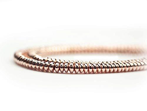 Hematiet edelsteenparels voor kettingen en armband zelf maken lens 4 mm, roségoud, streng ca. 180 st.
