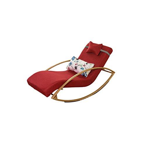 SFGH Sedia pigra staccabile divano pigro singola pausa pranzo balcone sedia for il tempo libero for anziani sedia for il tempo libero sedia for anziani (Color : Red)