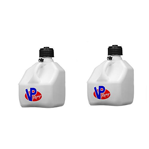 VP Racing Fuels 3 Gallon Square Motorsport Utility Container Jug White (2 Pack)