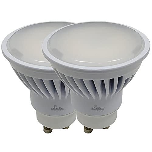 Pack 2x GU10 LED 8,5w Potentísima. Color Blanco Cálido (3000K). 970 Lúmenes. Angulo de 120 grados. A++