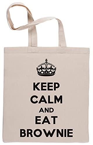 Keep Calm and Eat Brownie Bolsa De Compras Shopping Bag Beige