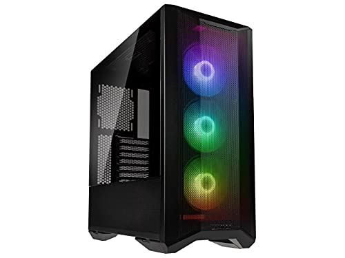 Lian Li Lancool II Mesh RGB Tempered Glass eATX Full Tower Computer Case, 3 ARGB PWM Fans Pre-Installed, Mesh Front Panel, 2 Tempered Glass Panels, Water-Cooling Ready(LANCOOL II MESH, Black)