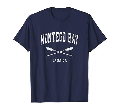 Montego Bay Jamaika Vintage Nautical Gekreuzte Ruder T-Shirt