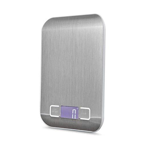 XYZMDJ Roestvrij Staal Elektronische Schaal, Voedsel Digitale Keuken Schaal Gewicht Grams en Oz voor Bakken en Koken