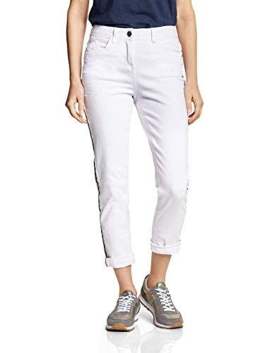 Cecil Damen 372084 Slim Jeans, White Denim, W33/L28 (Herstellergröße:33)