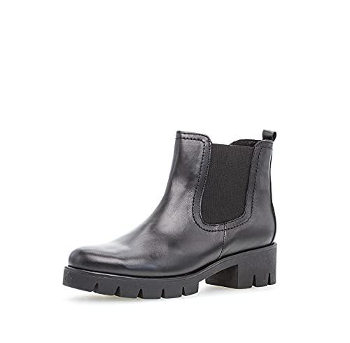 Gabor Damskie buty Chelsea, damskie sztyblety, wymienna wkładka, Best Fitting, czarny - czarny - 40 EU