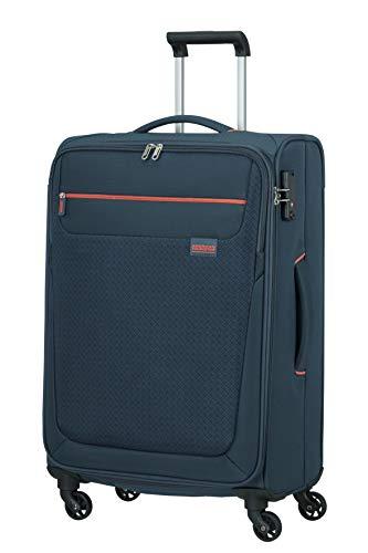 American Tourister Sunny South Equipaje- Maletas, Spinner M (67 cm - 64.5 L), Blau (Navy)