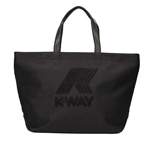 K-Way borsa donna k star shopper 57x35x22 canvas black