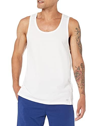Amazon Essentials Performance Cotton Tank Camicia, Bianco (White), Large (Taglia Produttore:):)