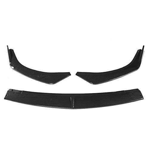ESUHUANG Frente Negro Coche 3PCS Fibra de Carbono Look/Parachoques Splitter Reborde del difusor Alerón Guardia Ajuste de la Cubierta de Mazda 3 Sedan Axela 2019 2020 (Color : Carbon Fiber Look)