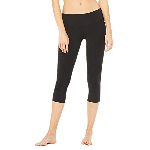 ZGRNPA Damen Yoga Capri Leggings Sport Hose mit Hoher Taille-Nackte Empfindung Lang Sporthose Sport Tights Laufhose für Fitness Gym Laufen Yoga mit Tasche and mesh Hohe Tights 3/4 Yogahose