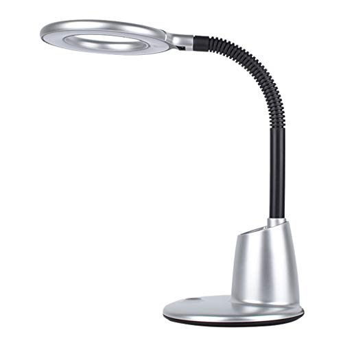 lámpara de mesa Lectura Protección de los ojos lámpara de escritorio de Anti-azul luz estroboscópica de libre lámpara de escritorio LED de tres niveles de atenuación con el titular de la pluma de escr