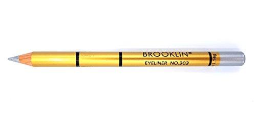 Brooklin - Lápiz de ojos Color Plata Nº303 duradero