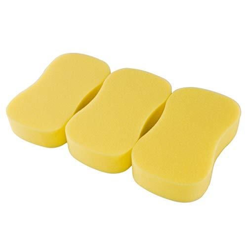 LTWHOME Gelber Knochen Form Schwamm für Auto Glas 250x122x41mm (3 Stück)