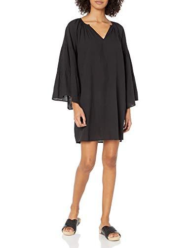 Seafolly Damen Tiered Sleeve Swimsuit Cover Up Tunic Bademodeüberzug, Beach Edit Schwarz, Small