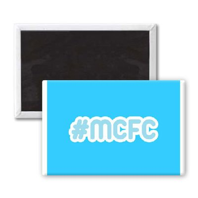 MCFC - 3x2 inch Fridge Magnet - large magnetic button