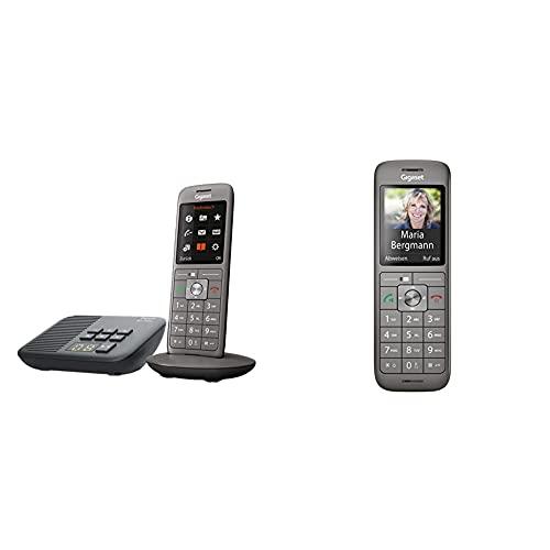Gigaset CL660A - Schnurloses Telefon mit Anrufbeantworter und großem TFT-Farbdisplay, anthrazit-metallic & CL660HX - DECT-Telefon schnurlos für Router - Fritzbox, Speedport kompatibel