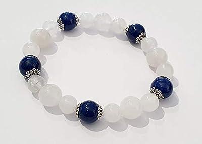 Bracelet Opaline et Agate bleue
