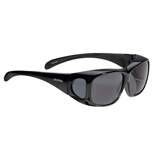 ALPINA Unisex - Erwachsene, OVERVIEW Sportbrille, black transparent gloss, One Size