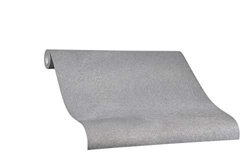 Tapete Grau Uni - Verblasst - Ideal für Wohnzimmer - Colani Visions - Made in Germany - 10,05m X 0,70m - 53313