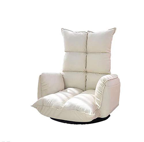 NUANXIN Canapé Paresseux Pliant avec Chaise de Sol coussinée et Balcon de Chaise de Jeu Sofa Lounge,White