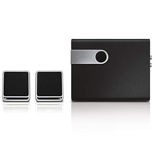 QAR audio-computer-thuis-multimedia 2.1-luidspreker-desktop-woonkamer-audio, 28,5 × 20,3 × 15,8 cm audio