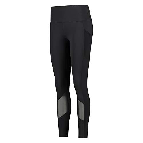 HUNKEMÖLLER Damen Lange Stretch-Sport-Legging mit hoher Taille Schwarz L