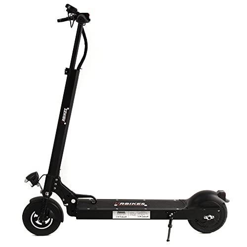 Urbikes Patinete eléctrico UBSC02 BK Negro 25Km/h 350W, 3 velocidades, Bateria 10,400mAh 36V, Movilidad Urbana