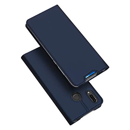 DUX DUCIS Hülle für Huawei P Smart Z, Leder Flip Handyhülle Schutzhülle Tasche Case mit [Kartenfach] [Standfunktion] [Magnetverschluss] für Huawei P Smart Z (Blau)
