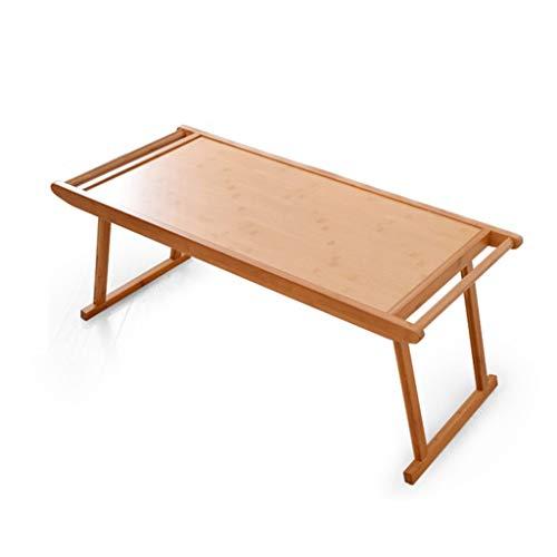 Tavolini da caffè Tavolino Tavolino Tavolo Davanzale della Casa Tavolo in bambù Tavolino Basso Tatami Tavolo da tè Artigianale Puro Tavolino Basso Pieghevole (Color : Khaki, Size : 76 * 43 * 29cm)