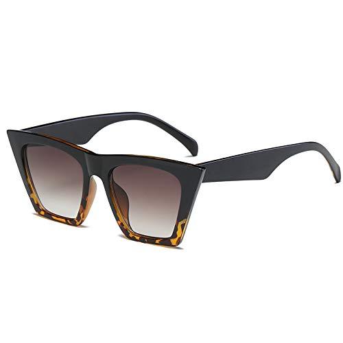 JYH Gafas de Sol cuadradas Vintage Cat Eye Gafas de Sol de Moda para Mujer Cateye Small,Flower Black