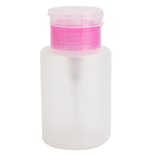 Effacer Appuyez liquide Alcool presser Bouteille Acétone Distributeur de pompe de dissolvant pour vernis à ongles