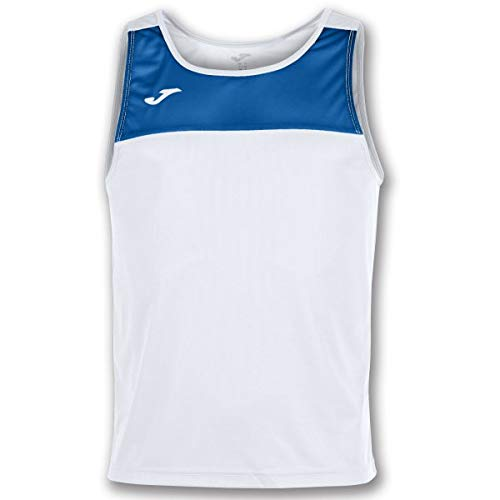 Joma Race Camisetas Caballero, Hombre, Blanco/Royal, L