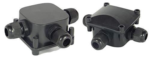TPBox 2 Fach Verbindungsbox Kabelverbinder Abzweigdose für 5,5-10,2 mm Kabeldurchmesser, IP68 Wasserdicht